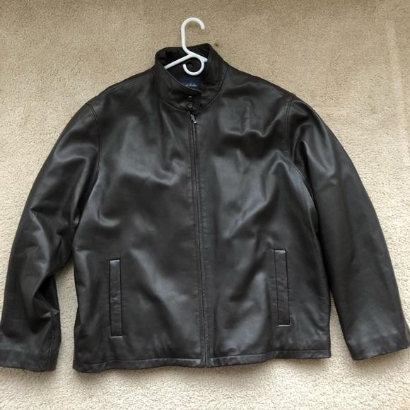 9df7832e5 Brooks Brothers Leather Bomber Jacket